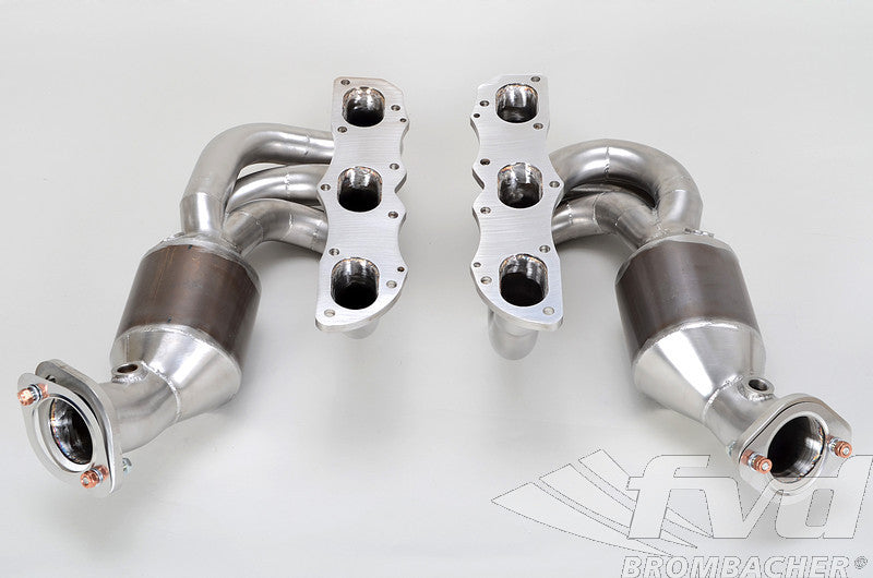 FVD Brombacher Sport Headers w/ HJS 200 Cell Catalysts (Cayman / Boxster 981)