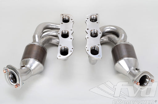 FVD Brombacher Sport Headers w/ HJS 200 Cell Catalysts (Cayman / Boxster 981) - Flat 6 Motorsports - Porsche Aftermarket Specialists