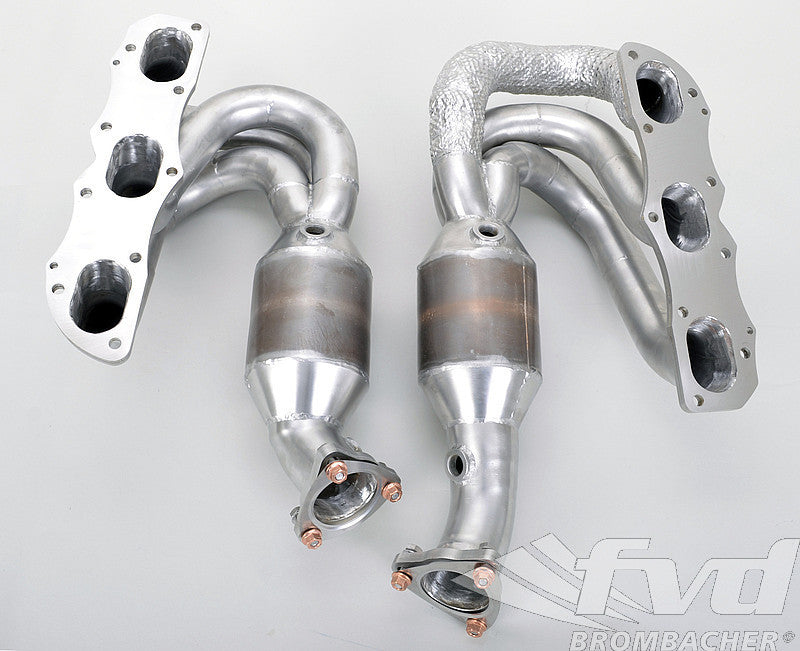 FVD Brombacher Sport Headers w/ HJS 200 Cell Catalysts (Cayman / Boxster 987.2) - Flat 6 Motorsports - Porsche Aftermarket Specialists