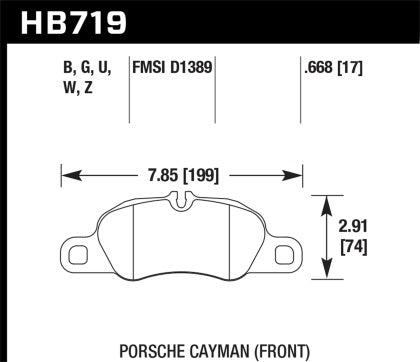 Hawk Street Performance Ceramic Front Brake Pads (991 Carrera)