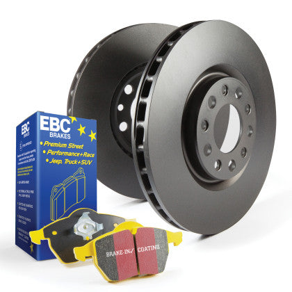 EBC Stage 13 Kit - Yellowstuff Front Brake Pads & Rotors (Panamera) - Flat 6 Motorsports - Porsche Aftermarket Specialists