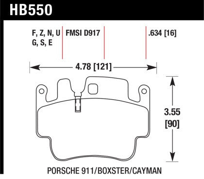 Hawk Street Ceramic Touring Front Brake Pads (Cayman S / Boxster S 987, 996) - Flat 6 Motorsports - Porsche Aftermarket Specialists