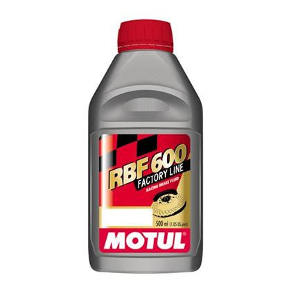 Motul 100% Synthetic RBF 600 - Racing Brake Fluid DOT 4 (0.5L) - Flat 6 Motorsports - Porsche Aftermarket Specialists