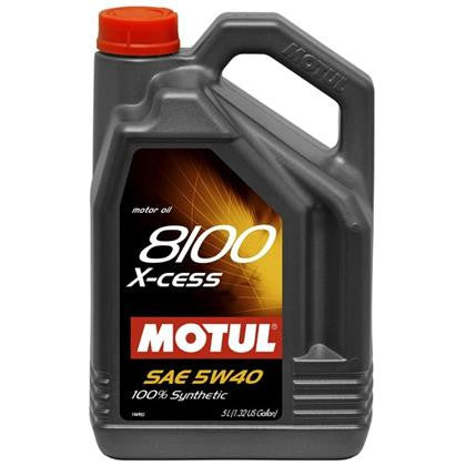 Motul 5W40 100% Synthetic Oil (8100 Series) QTY-5 Liters -