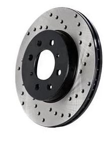 Stoptech Drilled Rear Brake Rotors (987)