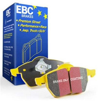 EBC Yellowstuff Ceramic Front Brake Pads (07-12 Cayman / Boxster 987) - Flat 6 Motorsports - Porsche Aftermarket Specialists