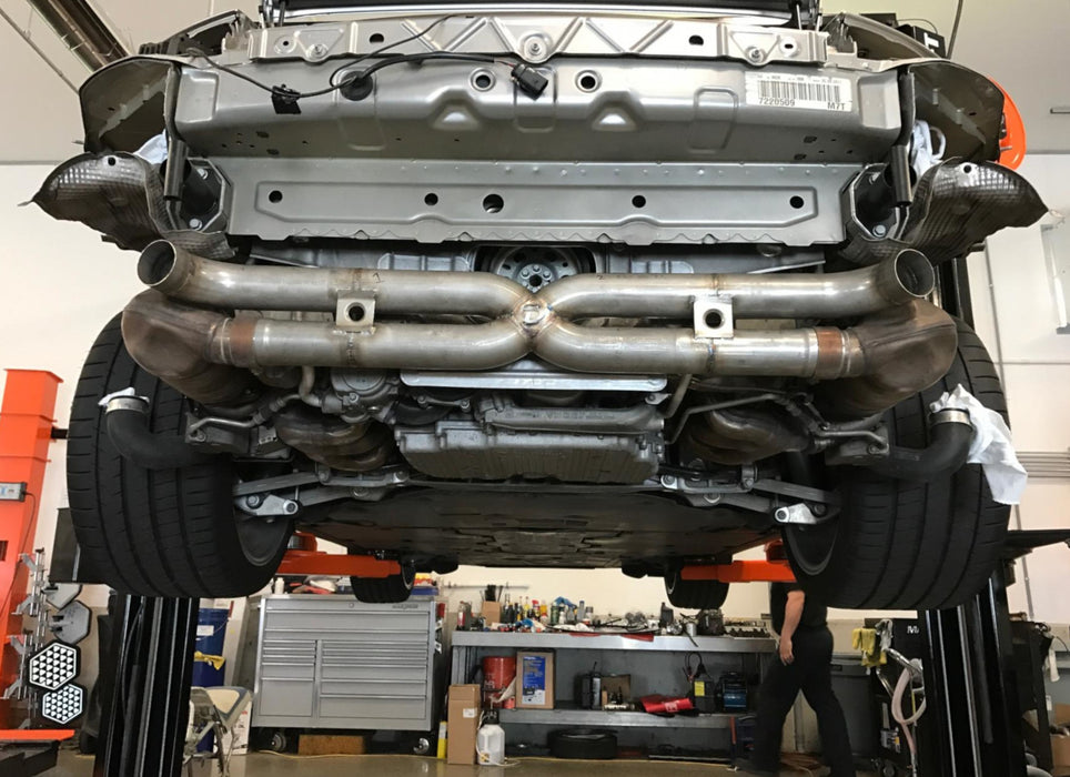 Dundon Motorsports Catback X-Pipe Exhaust - 997.2 Turbo / S