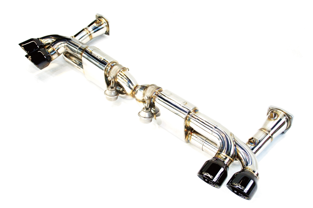 Mach 5 Performance Valvetronic Cat-Back Exhaust System (991 Turbo) - Flat 6 Motorsports - Porsche Aftermarket Specialists