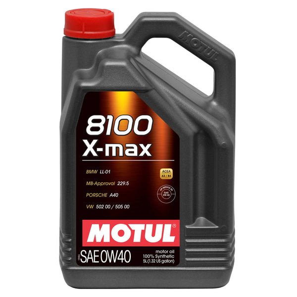Motul 0W40 100% Synthetic Oil (8100 Series) QTY-5 Liters - Flat 6 Motorsports - Porsche Aftermarket Specialists