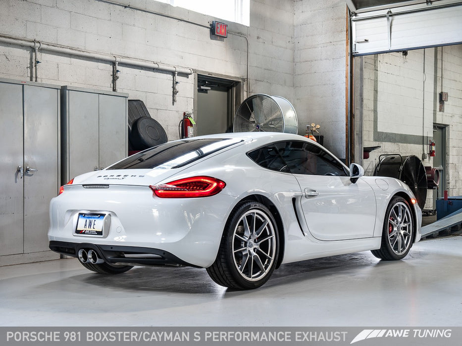 Awe Tuning Exhaust System Cayman Boxster 981 Flat 6