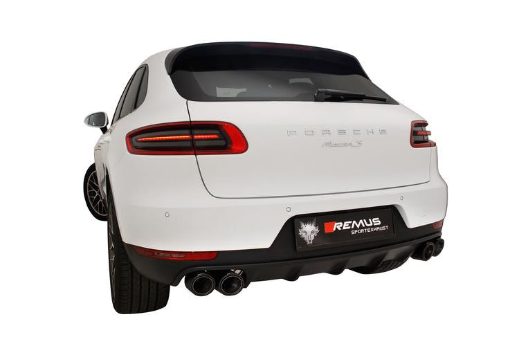 Remus Full Sport Exhaust System with Integrated Valves (Macan) - Flat 6 Motorsports - Porsche Aftermarket Specialists