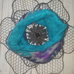Winter Sun-Blue Mini Cowl Scarf