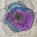 Winter Sun-Purple Mini Cowl Scarf