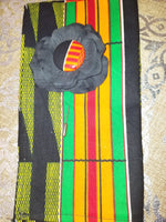 Kente Black Lapel Set