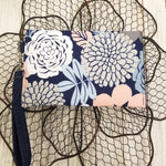 Peach Blooms Mini-Clutch