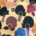 Afro Queen Zipper Clutch - Coffee & Cream