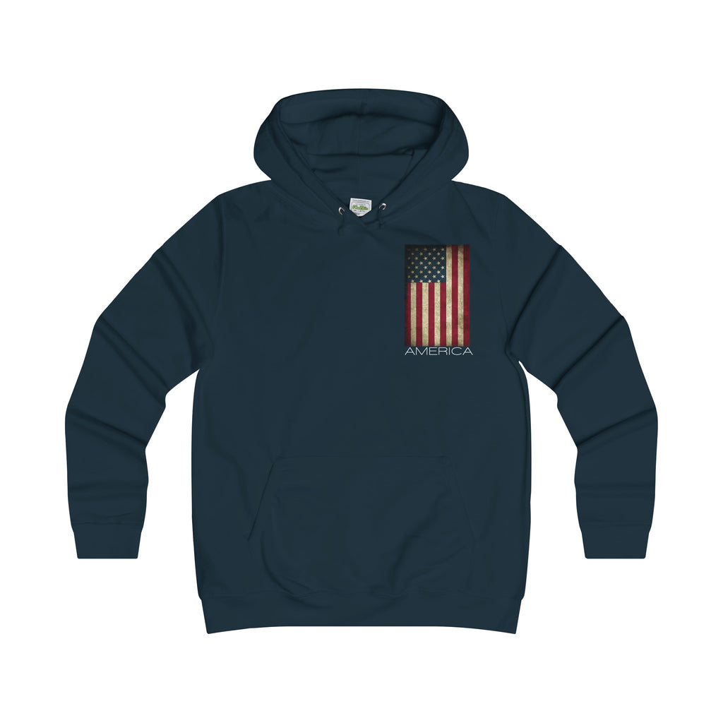 America the great- Girlie College Hoodie- Ladies Winter is Coming be warm