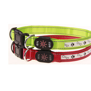 PERFECT DOG COLLAR-Cable , Night Safety Flashing Glow In The Dark Dog- ON SALE NOW FOR THE BEAST IN YOUR LIFE-DOGS ARE SO UNIQUE