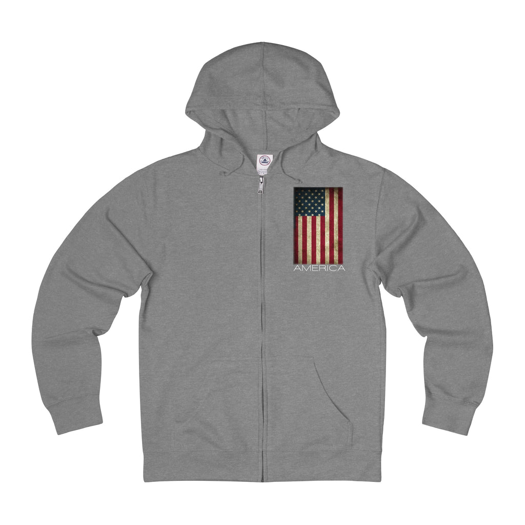 America The Great- Adult Unisex French Terry Zip Hoodie-Winter is Coming Be warm