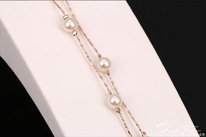 Double Fair Charm Bracelets & Bangles Silver/Rose Gold Color - With A Perfect Touch of Modern Style