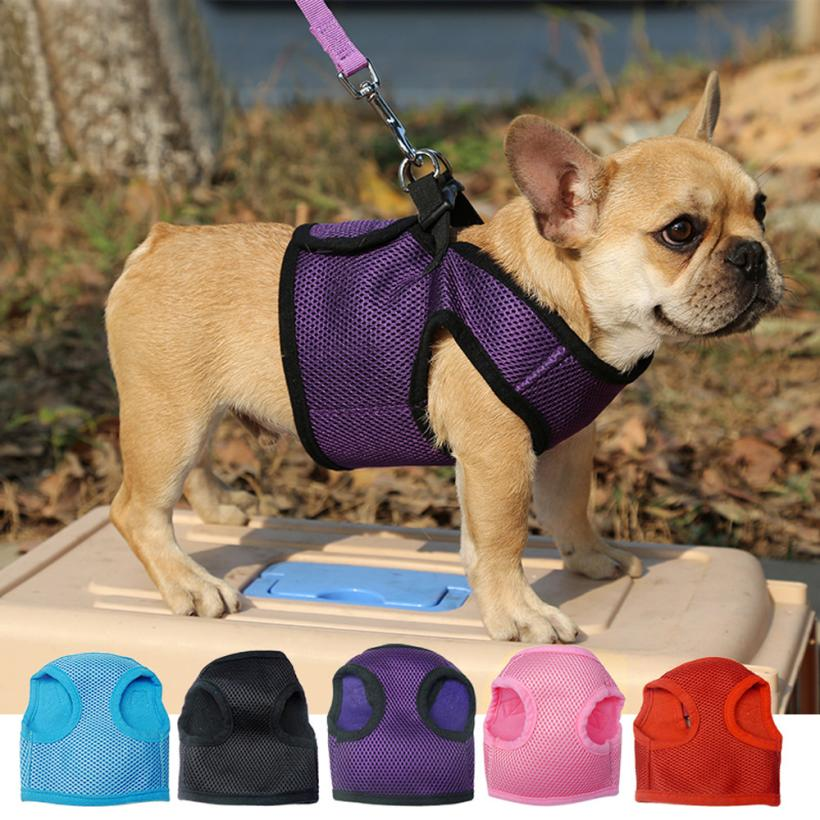 1PC Adjustable Soft Breathable Dog - Harness Nylon Mesh- Ideal for your pet plenty colors to choose from- get one now for your bundle of joy- omn sale today- take action now .