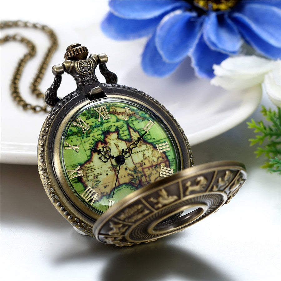 Bronze Vintage Pocket Watches Necklace Chain Pendent- PERFECT GIFT ON SALE TODAY GET ONE