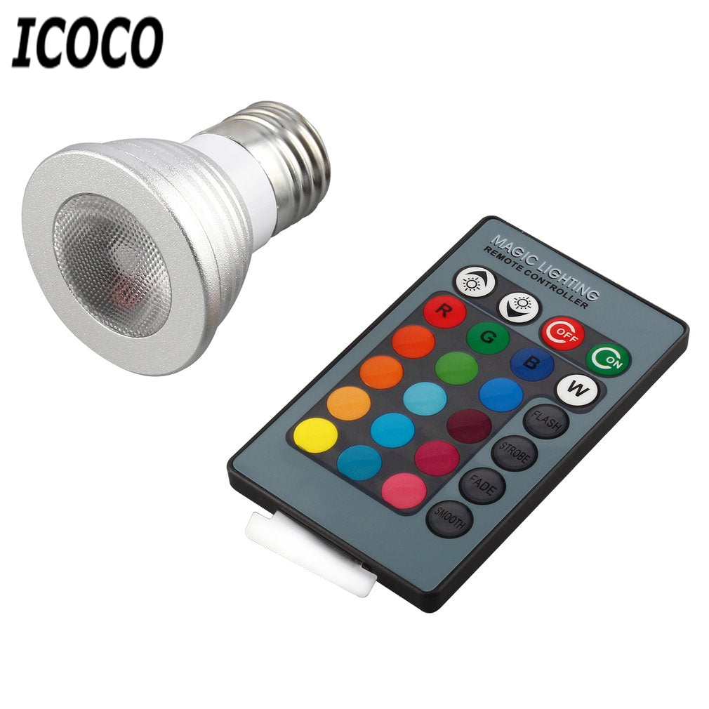 Multi Color Change RGB LED Light Bulb Lamp-SALE TODAY