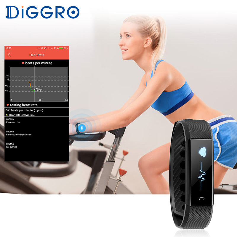 Diggro Smart Bracelet Heart Rate Monitor Activity Tracker - ON SALE TODAY GET THIS PERFECT COMPANION