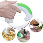 Stainless Circular Annular Cutter Rolling Vegetable Knife-ON  SALE TODAY- GET IT NOW