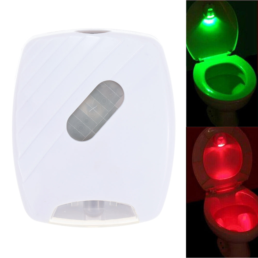 Toilet Night Light Auto-sensing LED  Seat Lamp  Motion Toilet Home Bathroom Red&Green Light Lamp no battery
