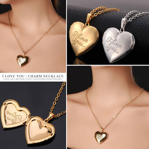 "Women Gift Silver/Gold Color Choker Chain Locket ""I Love You- PERFECT NECKLACE- ON SALE TODA GET IT NOW"