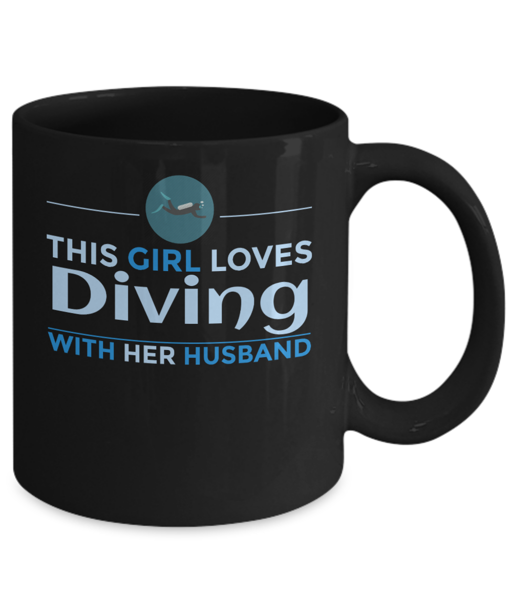 Diving girl mug - Golden Items For Sale