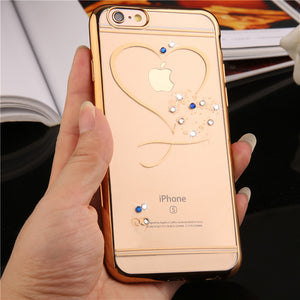 Pefect Phone case iphone 7 Rose Gold Plating Glitter Ultra Thin Clean Sof