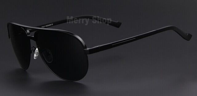 Men Brand Aluminum Alloy Polarized Shield Sunglasses- Unique Design- Perfect for driving