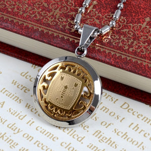 Men's Jewelry Stainless Steel Gold Inlaid Zodiac   Make it a great gift for that special person in your life
