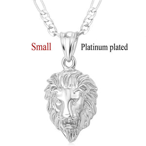 Gold Style Head Pendant & Necklace Animal King- ON SALE  TODAY GET ONE