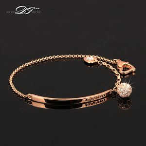 Double Fair OL Style Cubic Zirconia Ball Fashion Charm Bracelets & Bangles - Lovely Style with ATouch Of Modern