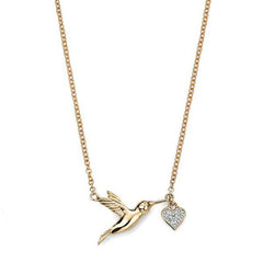 9ct Gold Diamond Pendant on Chain