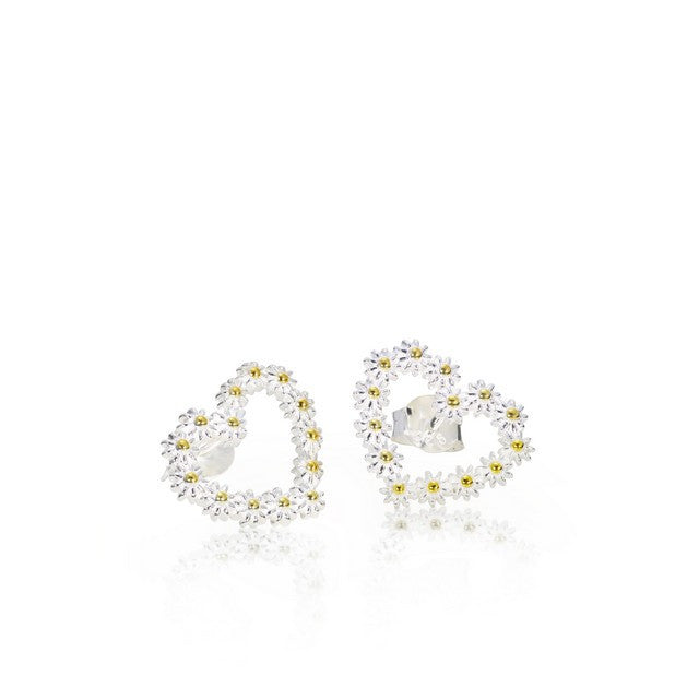925 Silver Daisy Stud Earrings