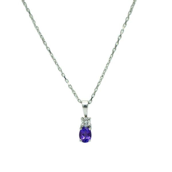 18ct Tanzanite & Diamond necklace