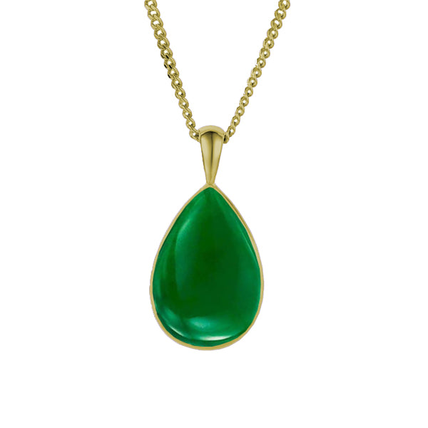 9ct Gold Jade Necklace