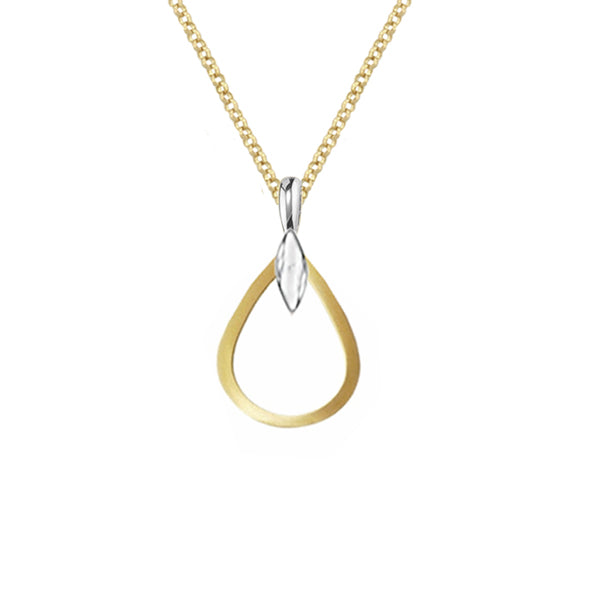 9ct Bicolour Gold Pendant & Chain