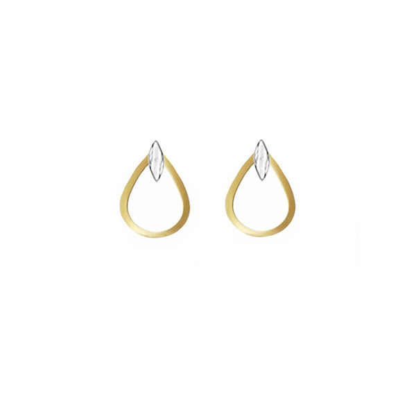 9ct Bi-Colour Gold Earrings