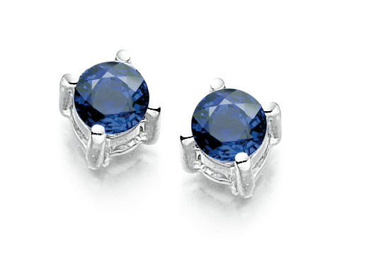 9ct White Sapphire Stud earrings