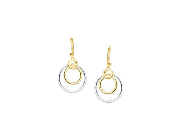 9ct Bi Colour Earrings