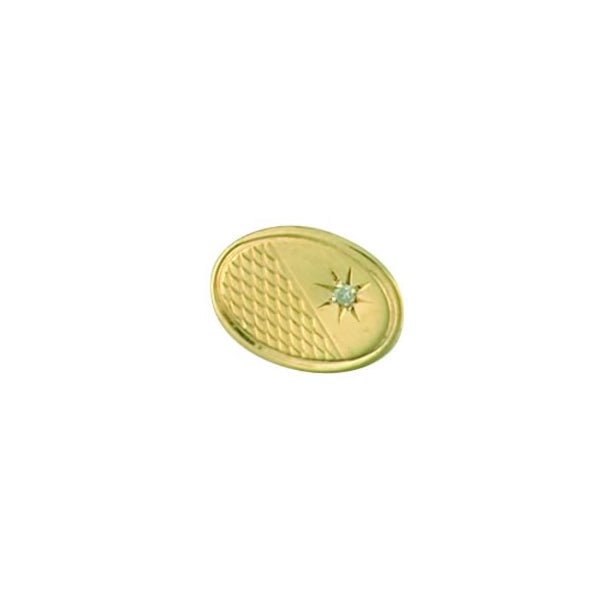 9ct Gold Diamond Tie Tack