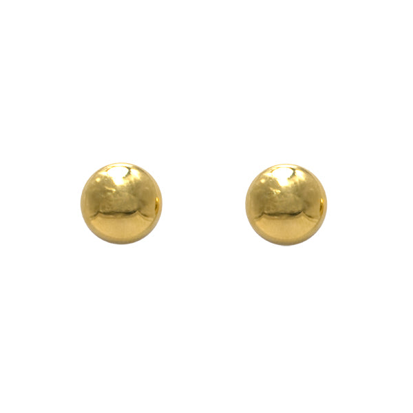18ct Gold 9mm Button Stud Earrings