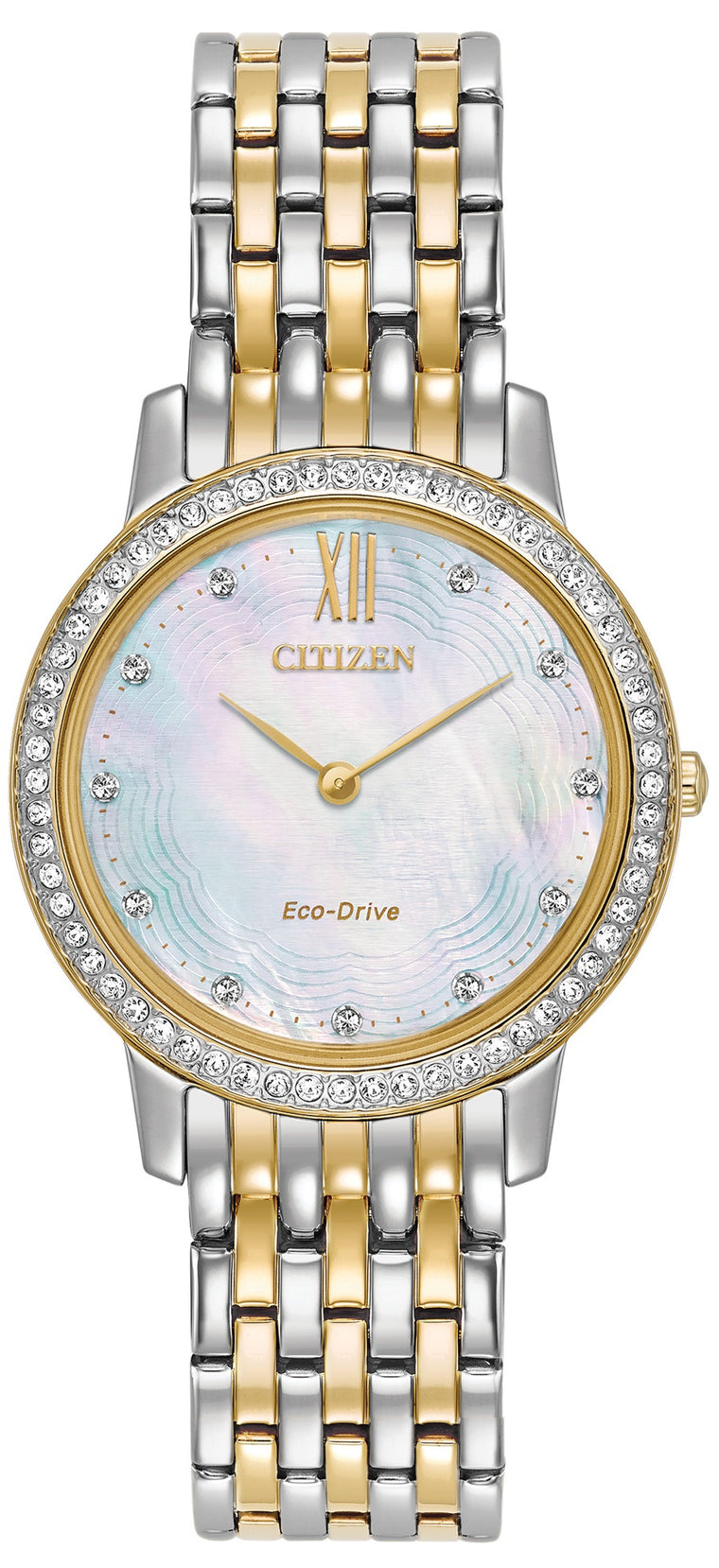 Ladies Eco-Drive Crystal Case Watch