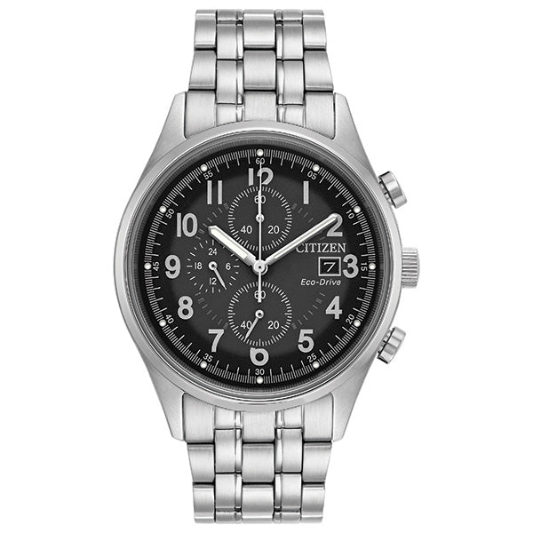 Mens Eco-Drive Stainless Steel Watch