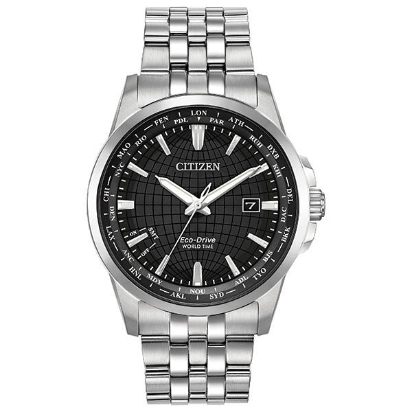 Men's Eco-Drive World Time Watch